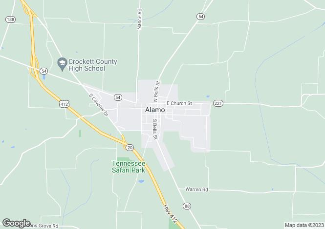 Map for Nevada, Lincoln County, Alamo