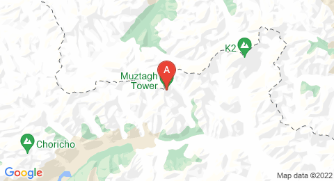 map of Muztagh Tower (Pakistan)