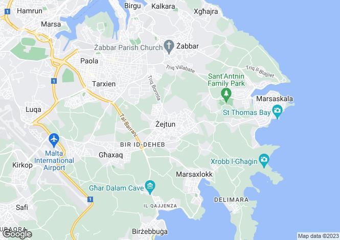 Map for Zejtun