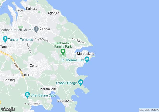Map for Marsaskala