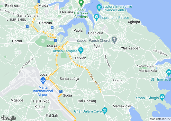Map for Tarxien