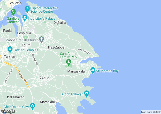 Map for Marsascala
