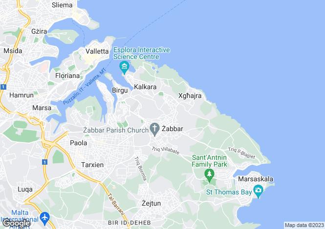 Map for Zabbar