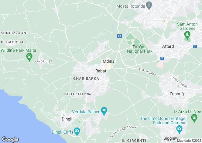 Map for Penthouse, Inguanez Street, Rabat