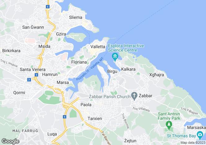 Map for Senglea