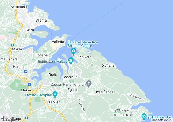 Map for Kalkara