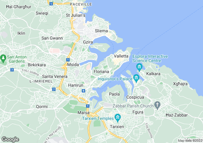 Map for Floriana