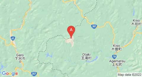 map of Mount Ontake (Japan)
