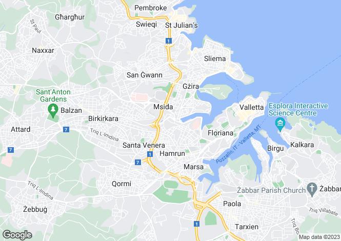 Map for Msida