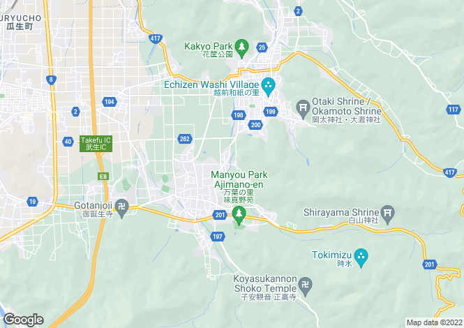 Map for Fukui