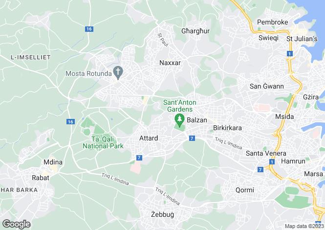 Map for Lija