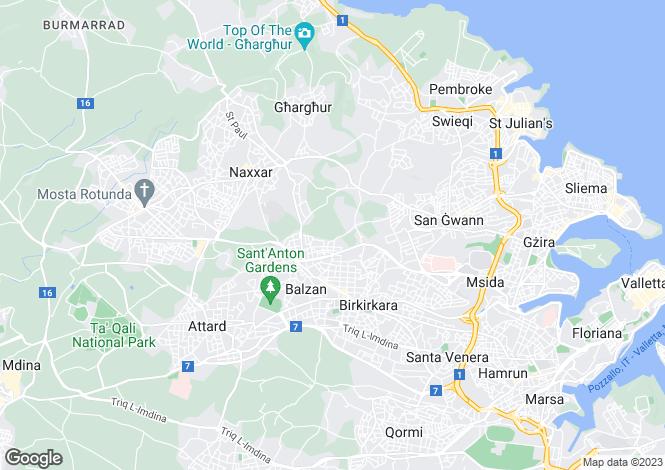 Map for Birkirkara