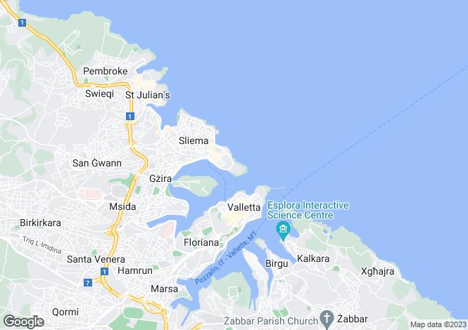 Map for Tigne Point Sliema, Malta