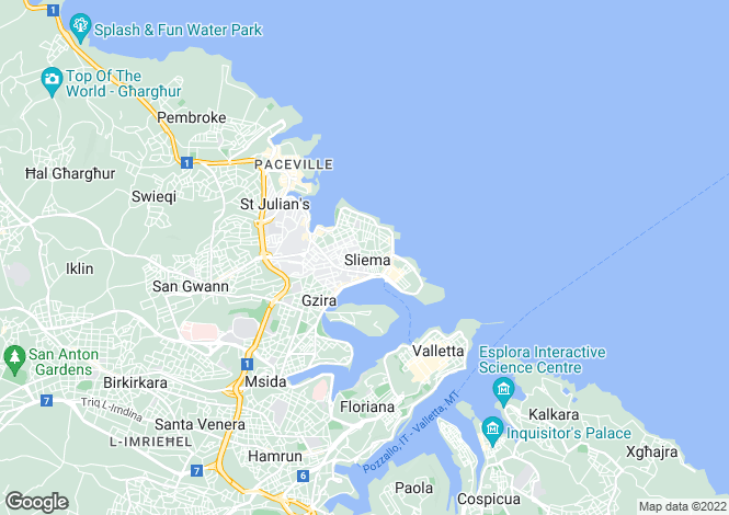 Map for Sliema