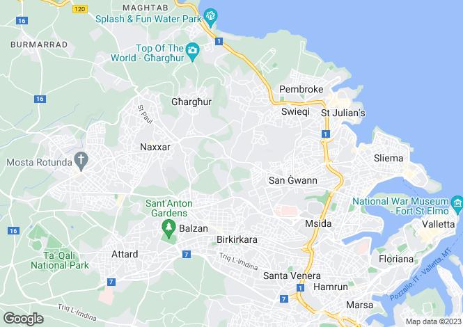 Map for San Gwann