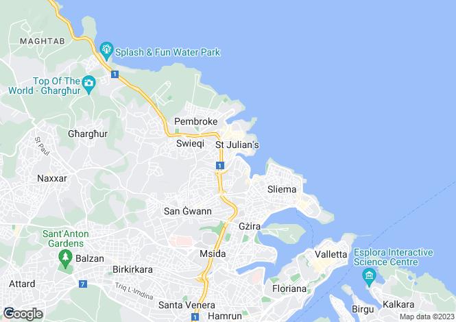 Map for St Julian`s