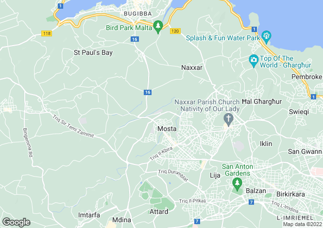 Map for Mosta