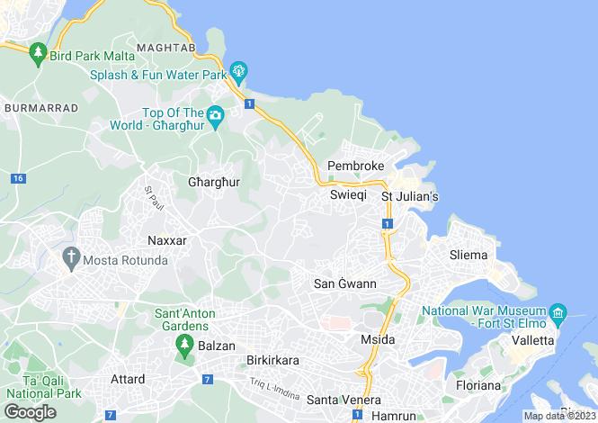 Map for Swieqi