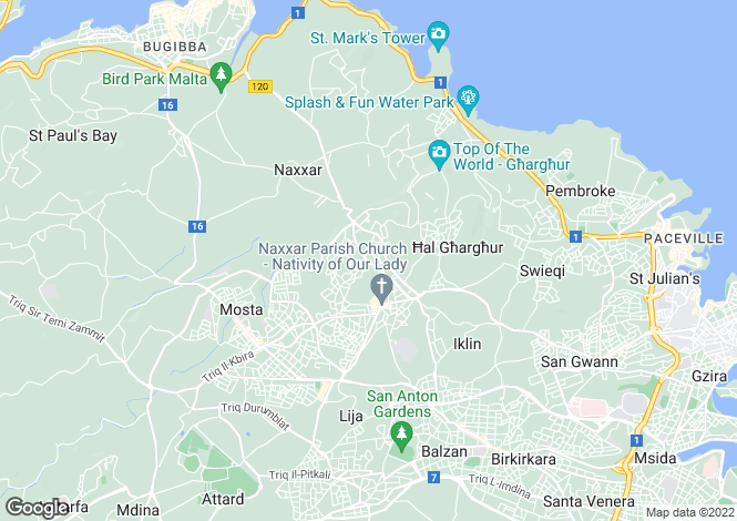 Map for San Pawl tat-Targa