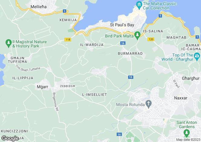 Map for Bidnija