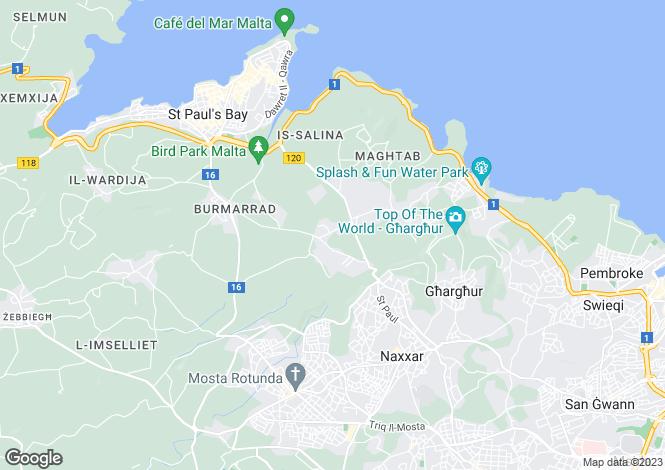 Map for Naxxar