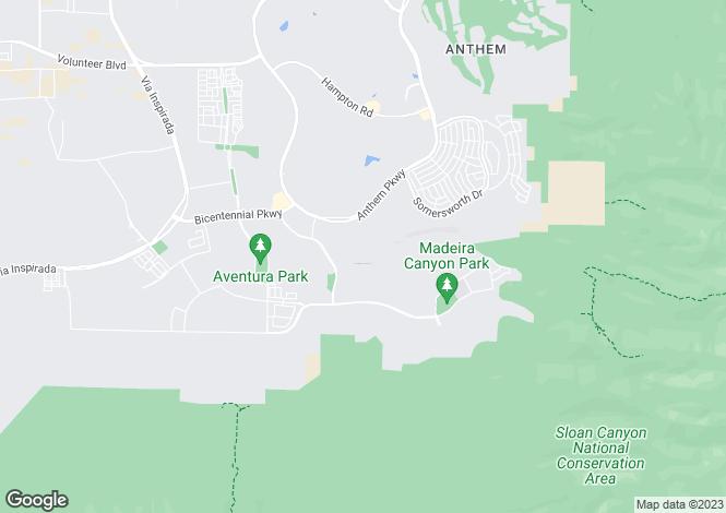 Map for USA - Nevada, Clark County, Henderson