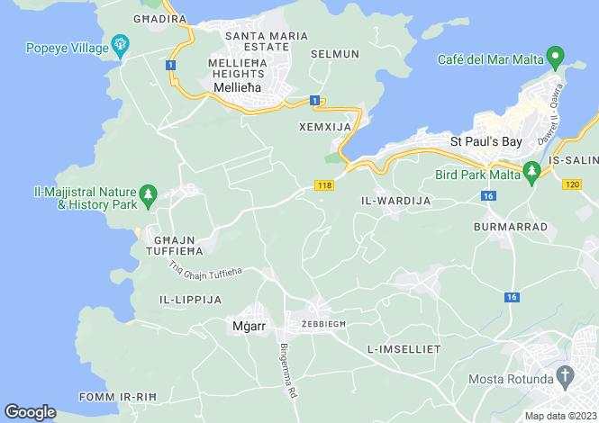 Map for Ta  L-Ibrag