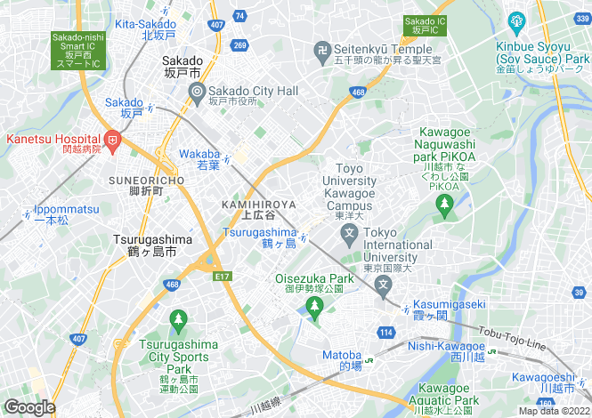 Map for Saitama