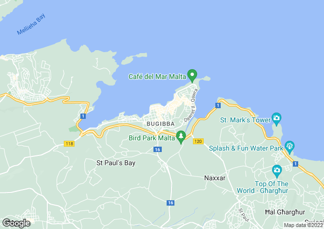 Map for Bugibba