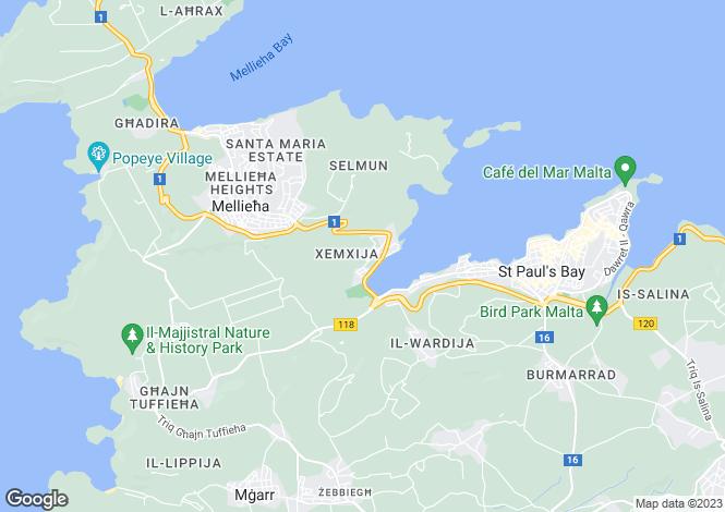 Map for Xemxija