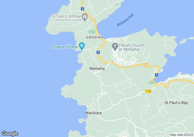 Map for Mellieha