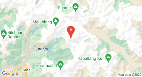 map of Laila Peak (Pakistan)