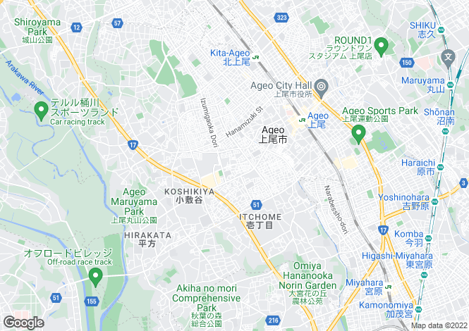Map for Saitama