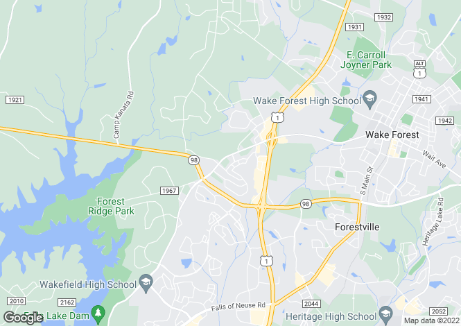 Map for USA - North Carolina, Wake County, Wake Forest
