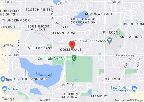 Map of 3500 Lochwood Drive, Fort Collins, CO, United States