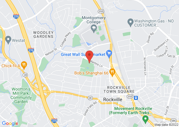 Map of 355 Martins Lane, Rockville, MD, USA