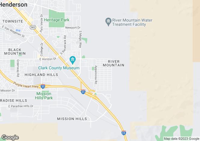 Map for Nevada, Clark County, Henderson