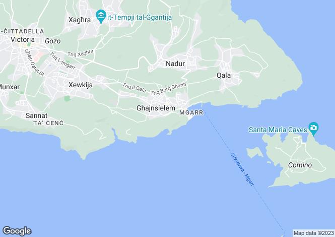 Map for Ghajnsielem