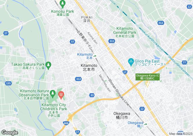 Map for Kanagawa, Midori