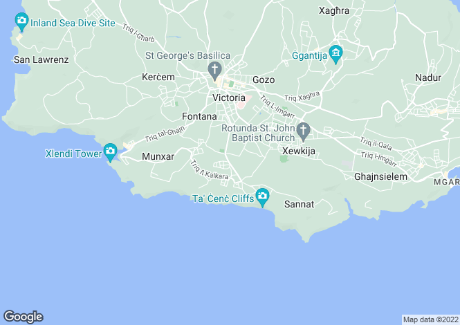 Map for Gozo