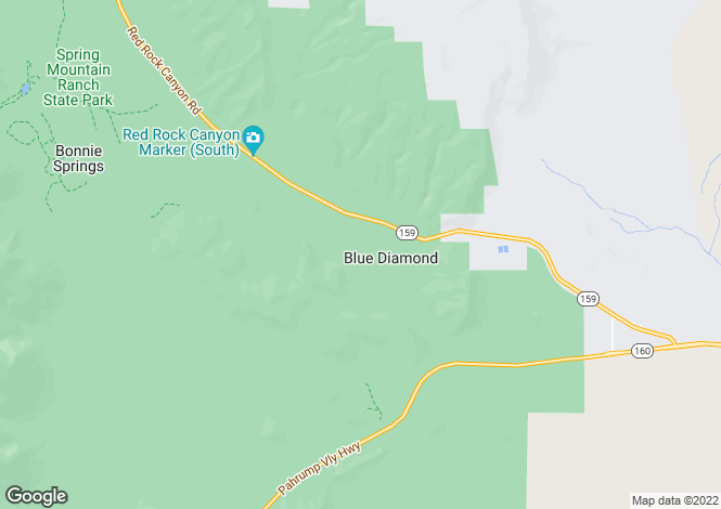 Map for Nevada, Clark County, Blue Diamond