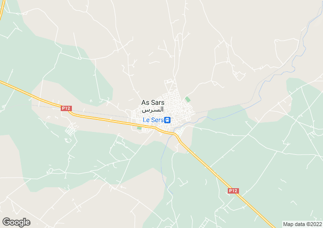 Map for Secteur: Sers, Charente