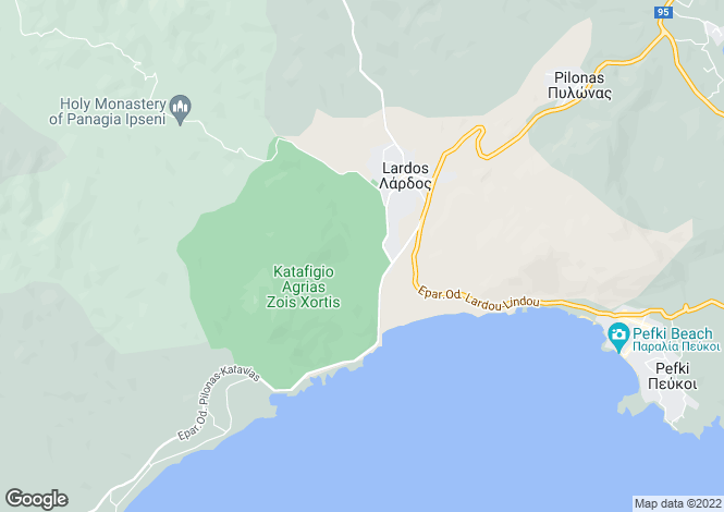 Map for Dodekanes Inseln, Lardos, Lindos Area