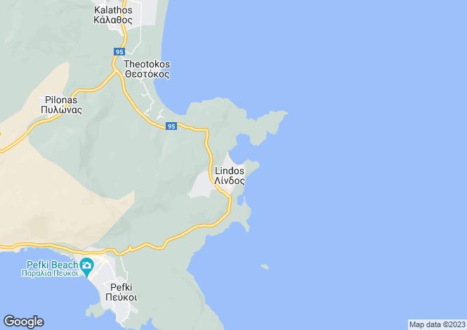 Map for , Lindos, Greece