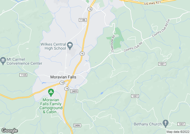 Map for USA - North Carolina, Wilkes County, Wilkesboro