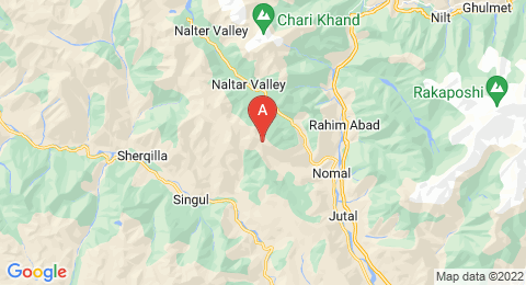 map of Naltar Peak (Pakistan)