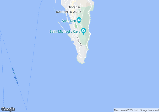 Map for South District, Gibraltar