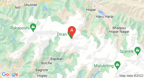 map of Diran (Pakistan)