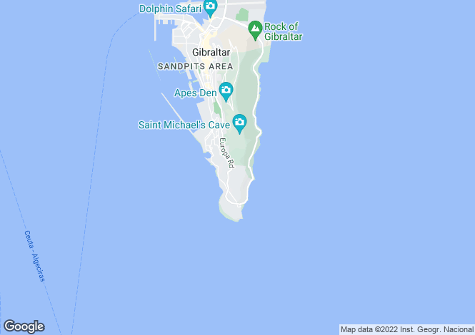 Map for Clifftop House, Gibraltar
