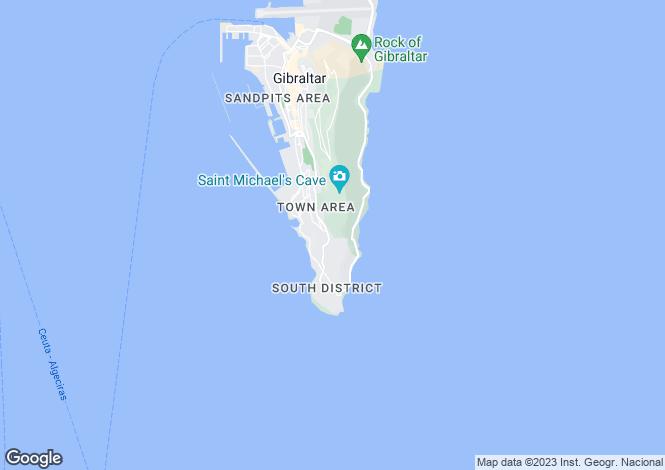Map for Sunset Close, Gibraltar